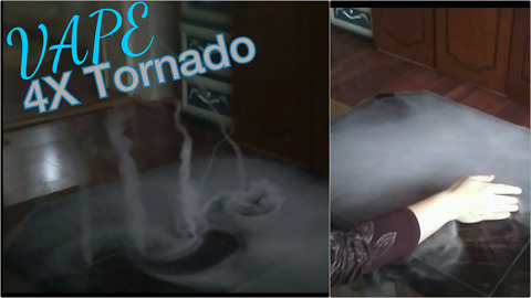 Incredible vape trick creates 4 mini tornadoes