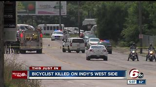 Bicyclist struck, killed by vehicle on Indy's west side - Video