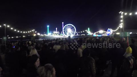 Huge queues for opening of Winter Wonderland in Hyde Park, London