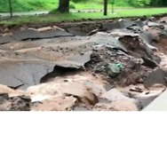 Flash Flooding Destroys Roads in Houghton, Michigan - Video