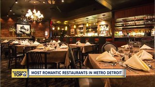Thursday's Top 7: Most romantic restaurants in metro Detroit