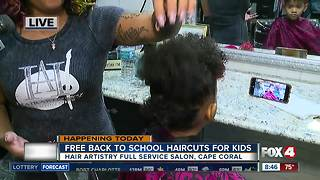 Salon in Cape Coral offers free back to school hair cuts - Video