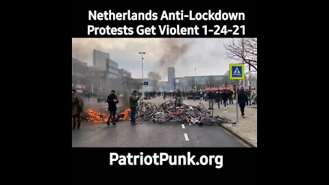 Netherlands Anti-Lockdown Protests