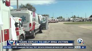 First responders gather in Boca Raton to help Irma victims - Video