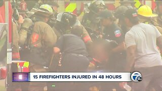 15 firefighters injured in 48 hours