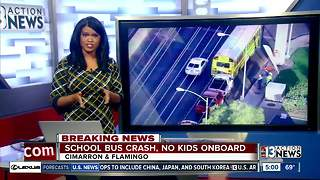 School bus crashes near Cimarron and Flamingo Road