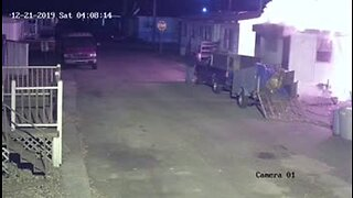 Security footage of Warren mobile home fire