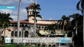 Trump's Detractors Are Wishing For Irma To Hit Mar-A-Lago On Social Media - Video