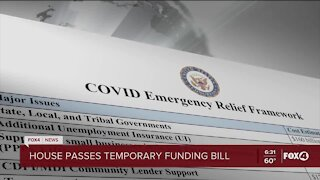 House passes temporary funding bill