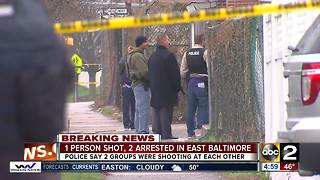 1 person injured after East Baltimore shoot out - Video