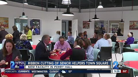 Ribbon cutting of Senior Helpers Town Square