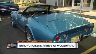 Car nuts rushing into Royal Oak early for Woodward Dream Cruise - Video