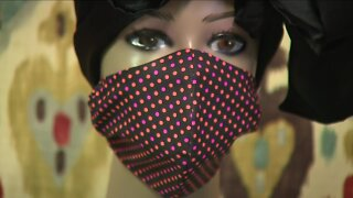 Local fashion designer sees surge in demand for the latest accessory: masks