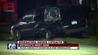 1 Killed in Detroit Crash Overnight