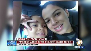 Father charged after children killed in fire - Video