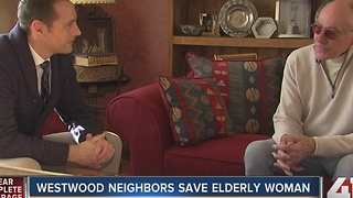 Westwood man helps save neighbor - Video