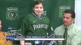 UW-Parkside baseball team makes boy with cancer's dream come true - Video