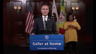 """LOS ANGELES MAYOR ERIC GARCETTI: """"It's time to cancel everything."""""""