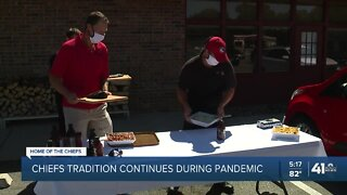 Chiefs tradition continues during pandemic