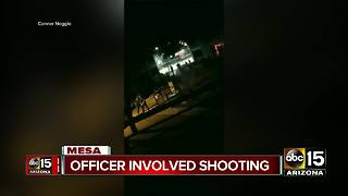 Authorities investigating officer-involved shooting in Mesa - Video