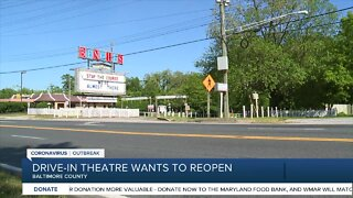 Drive-in theatre in Baltimore County wanting to reopen