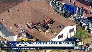 House fire burns Skyline home - Video