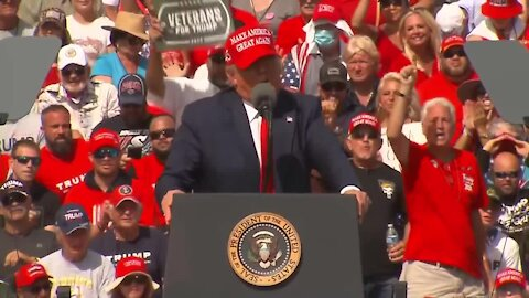 President Trump holds rally at Raymond James Stadium in Tampa on Thursday