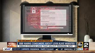 12 scams of Christmas: Phishing emails and look-alike websites - Video