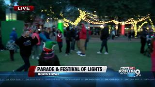 Parade of Lights and Festival Saturday night in Tucson - Video