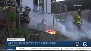 Arson suspected in deadly fire