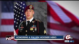 Fallen soldier's body returned home to Columbus, Indiana - Video