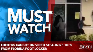 Looters Caught on Video Stealing Shoes From Florida Foot Locker - Video