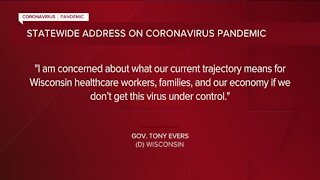 Gov. Tony Evers to deliver statewide COVID-19 address on Tuesday