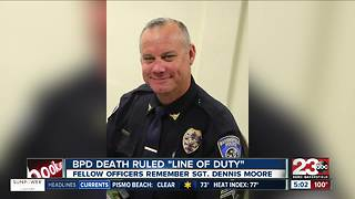 Sgt. Dennis Moore's passing ruled a line of duty death - Video