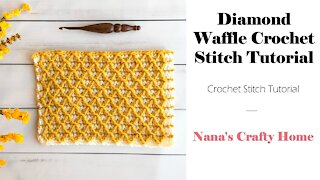 Diamond Waffle Crochet Stitch Tutorial