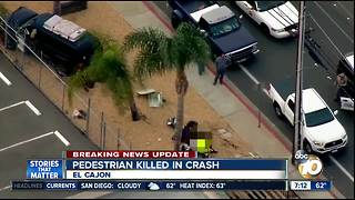 Pedestrian killed in El Cajon crash - Video