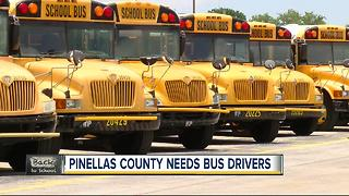 Lack of school bus drivers could cause route delays in Pinellas County - Video
