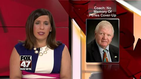 Former MSU field hockey coach says she has no memory of Perles cover-up