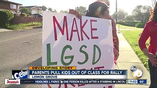 Lemon Grove parents pull kids out of class for rally