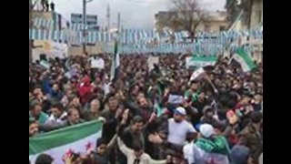 Hundreds Rally in Azaz to Mark Eight Years Since Beginning of Syrian 'Uprising' - Video