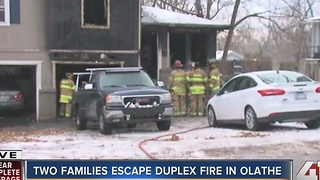 Two families displaced after Olathe duplex fire