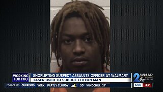 Shoplifting suspect charged with assaulting officer at Walmart