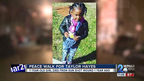 'Put Down the Guns' peace walk marches for Taylor Hayes