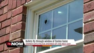 Bullet flies through window of Canton home - Video
