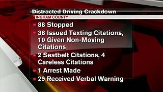 Ingham Co. Sheriff releases distracted driving initiative stats - Video