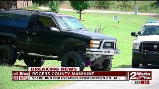 Rogers County manhunt for escaped inmates - Video