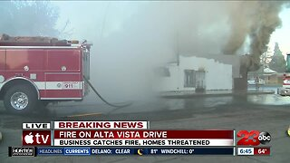 Fire ignites in an abandoned building in East Bakersfield Monday morning