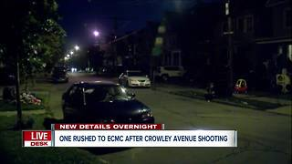 One rushed to ECMC after Sunday night shooting - Video