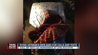 Dying Army veterans wants calls, texts - Video