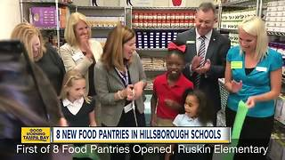 Several Hillsborough County schools to house on-site food pantries - Video
